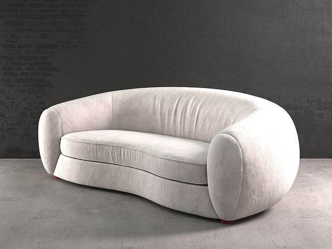 polar bear sofa 3d model max obj mtl fbx c4d 3dm skp 1