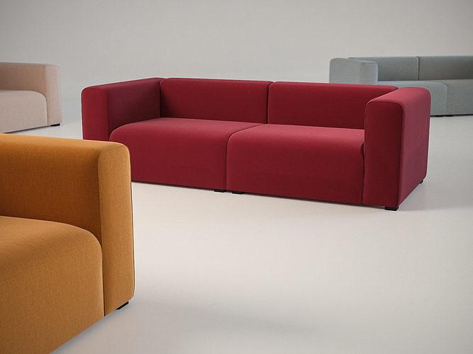 mags 25 seater sofa 3d model max obj mtl fbx c4d skp mxs 1