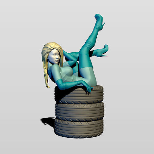 grid girl in resting 3d model max obj mtl fbx stl ztl 1