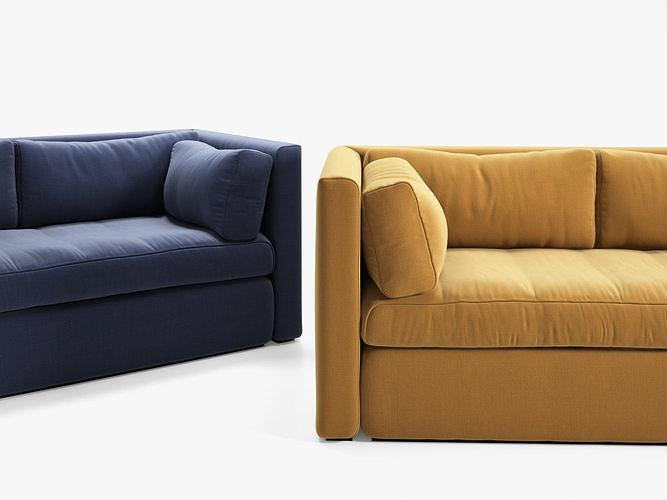 hackney 3 seater sofa 3d model max obj mtl fbx c4d ma mb skp 1