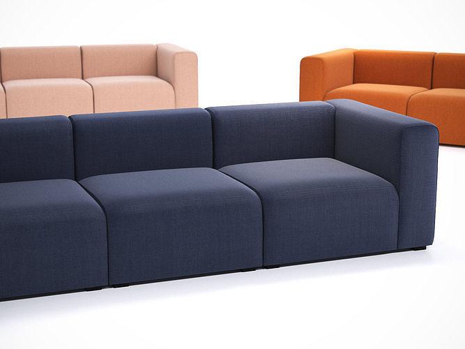 mags 3 seater sofa 3d model max obj mtl fbx c4d skp mxs 1