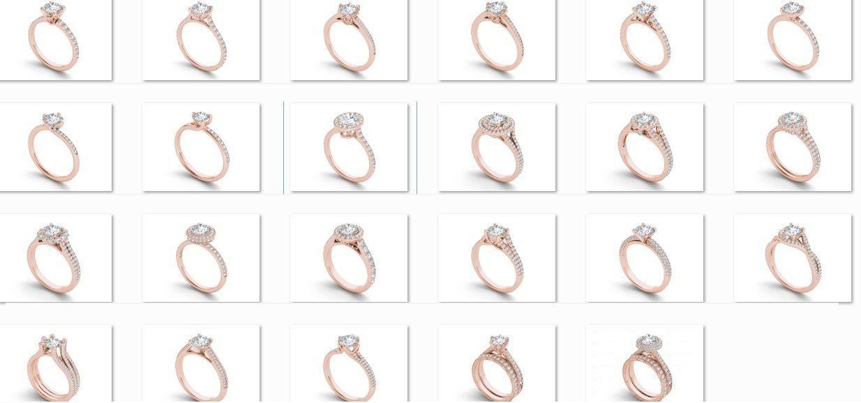 23 Solitaire ring  Bulk 3dm stl render detail 3D print model
