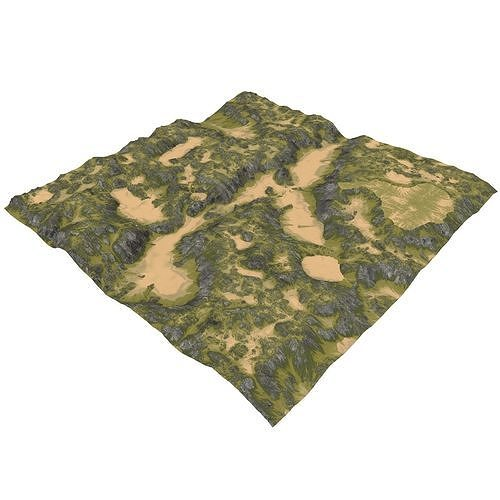 terrain mth096 3d model max obj mtl fbx c4d blend 1