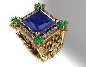diamond-ring 3D print model man rings