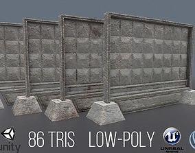 Concrete Fence 3D asset