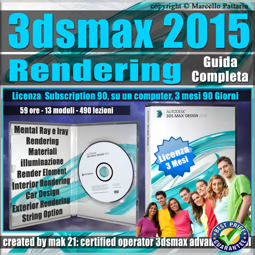 3ds max 2015 Rendering Guida Completa 3 mesi Subscription