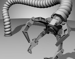 3D model Robot Mechanic Arm - style three