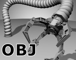 Robot Mechanic Arm OBJ - style three 3D Model