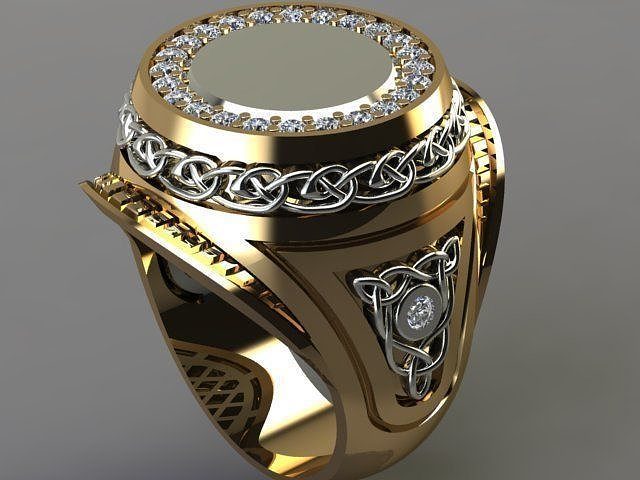 3d Printable Model Vas Men Ring Cgtrader