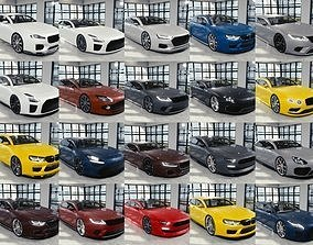 3D model BLENDER EEVEE Brandless 20 car collection volume