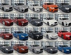 3D BLENDER EEVEE Brandless 20 car collection volume