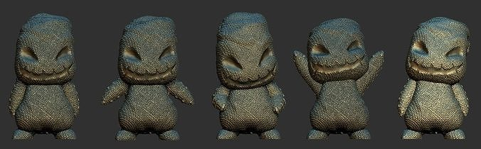mini oogie boogie - 5 poses 3d model stl 1