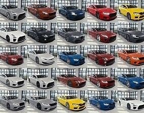 3D model BLENDER EEVEE Brandless 50 car collection volume