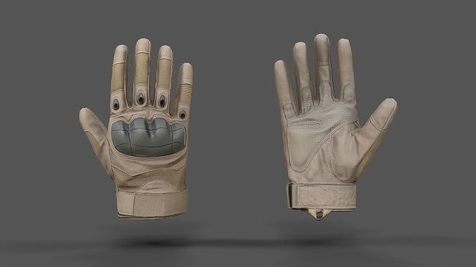 vr hands - combat glove 3d model obj mtl fbx spp 1