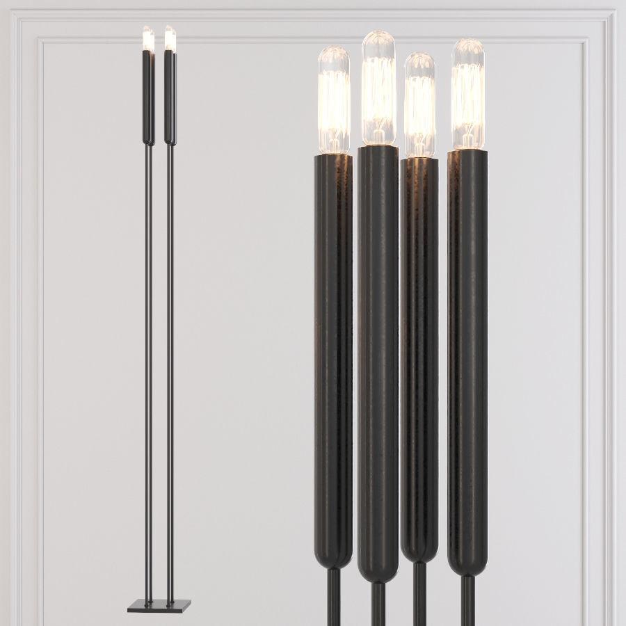 Restoration Hardware Floor Lamps >> Restoration Hardware Quenouilles Floor Lamp Black 3d Model