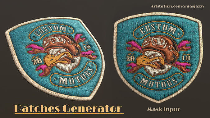 patches generator - 3d model sbsar sbsprs 1