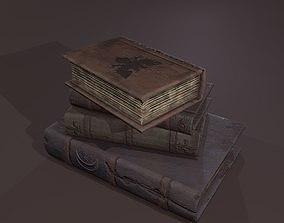 3D asset Medieval Book Stack