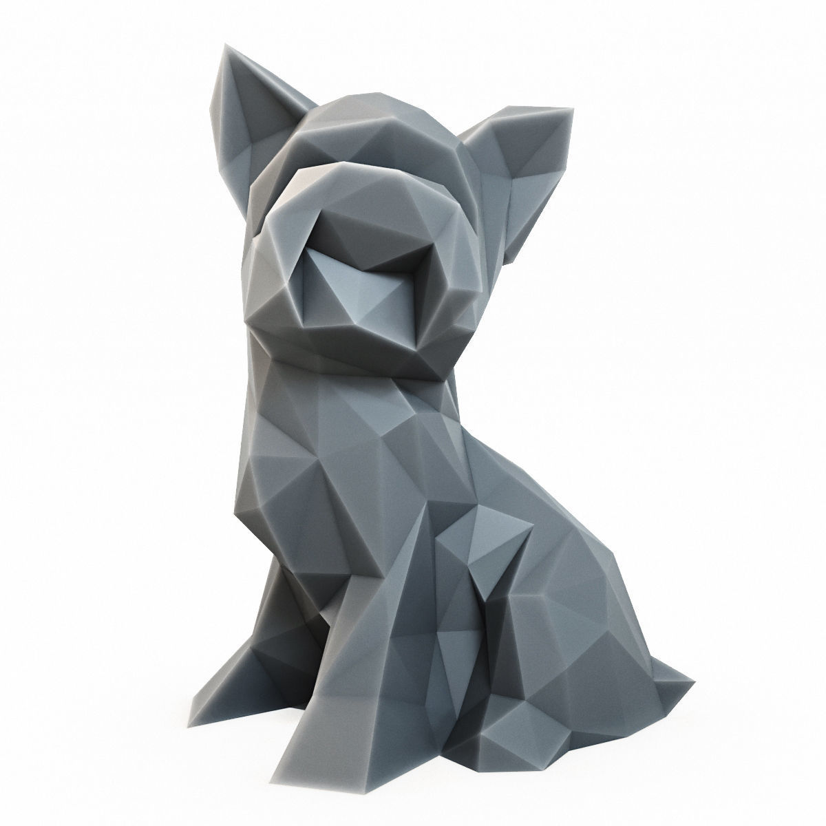 Yorkshire Terrier Low Poly 2