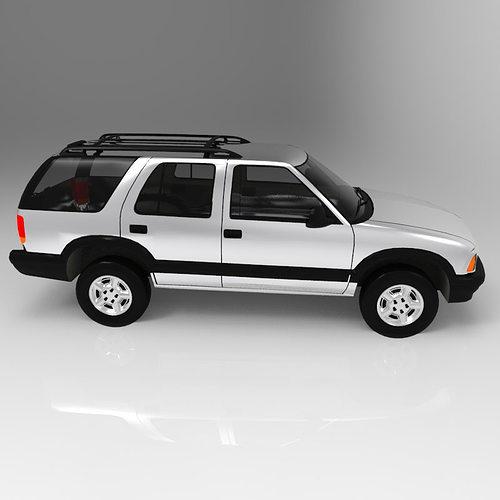 chevrolet s10 blazer 1995 3d model obj mtl pdf 6