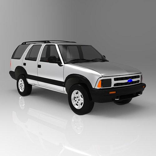 chevrolet s10 blazer 1995 3d model obj mtl pdf 7
