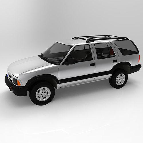 chevrolet s10 blazer 1995 3d model obj mtl pdf 3