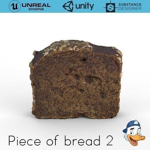 peace of bread 2 3d model obj mtl fbx c4d unitypackage prefab uasset 1