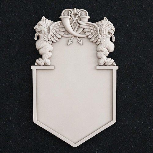 gargoyle  gerb  emblem 3d print model 3d model stl 1