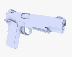 VR / AR ready colt m1911 pistol 3d model