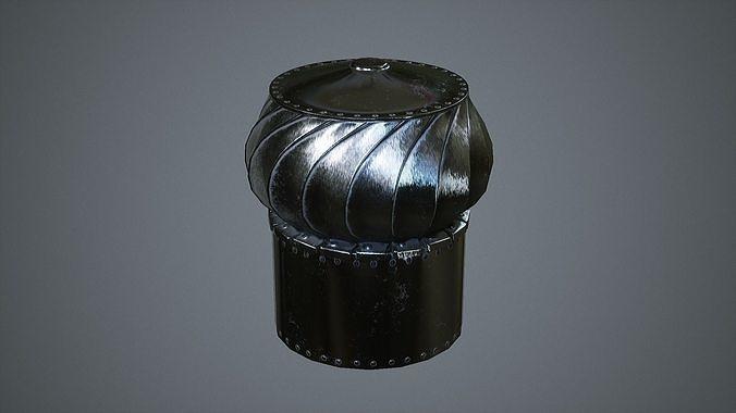rotating roof ventilation  3d model fbx tga spp 1