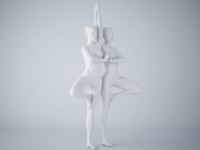 two-person yoga pose 006 3d model stl 1