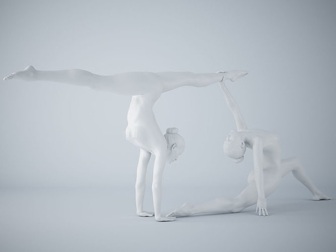 two-person yoga pose 012 3d model stl 1