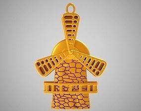 3D print model Windmill Necklace