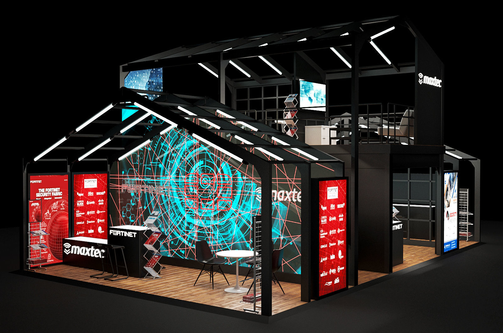 Exhibition Stand Architecture : Architectural exhibition stand d cgtrader