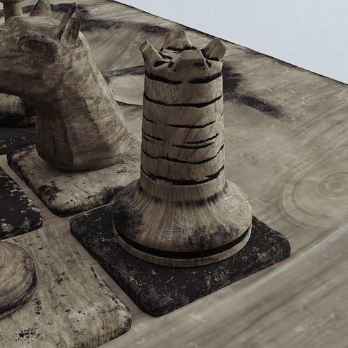 chess tower 3d model obj mtl 1