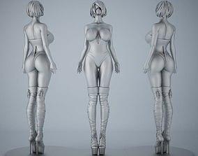 Woman sculpture desktop bauble 002 3D printable model