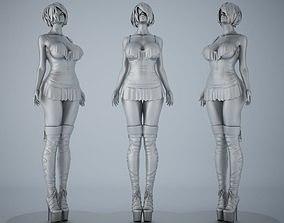 Woman sculpture desktop bauble 004 3D printable model