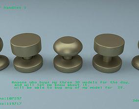 3D Round door handles 1