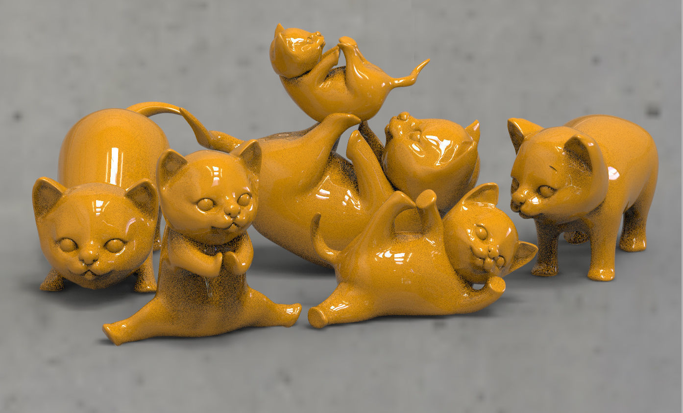 cats Low-poly