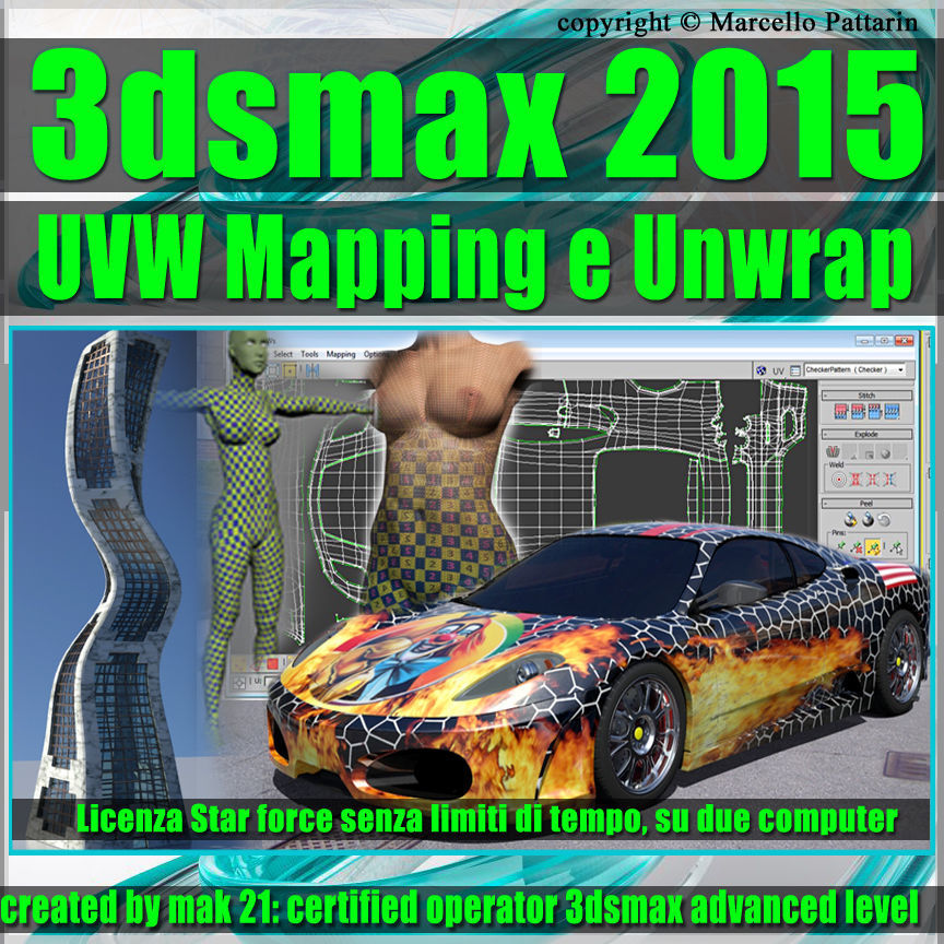 3ds max 2015 UVW Mapping e Unwrap  Subscription 1 Computer