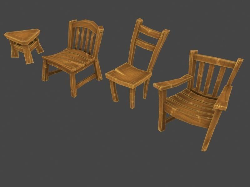 Cartoon Furniture Pack 3d Model Cgtrader