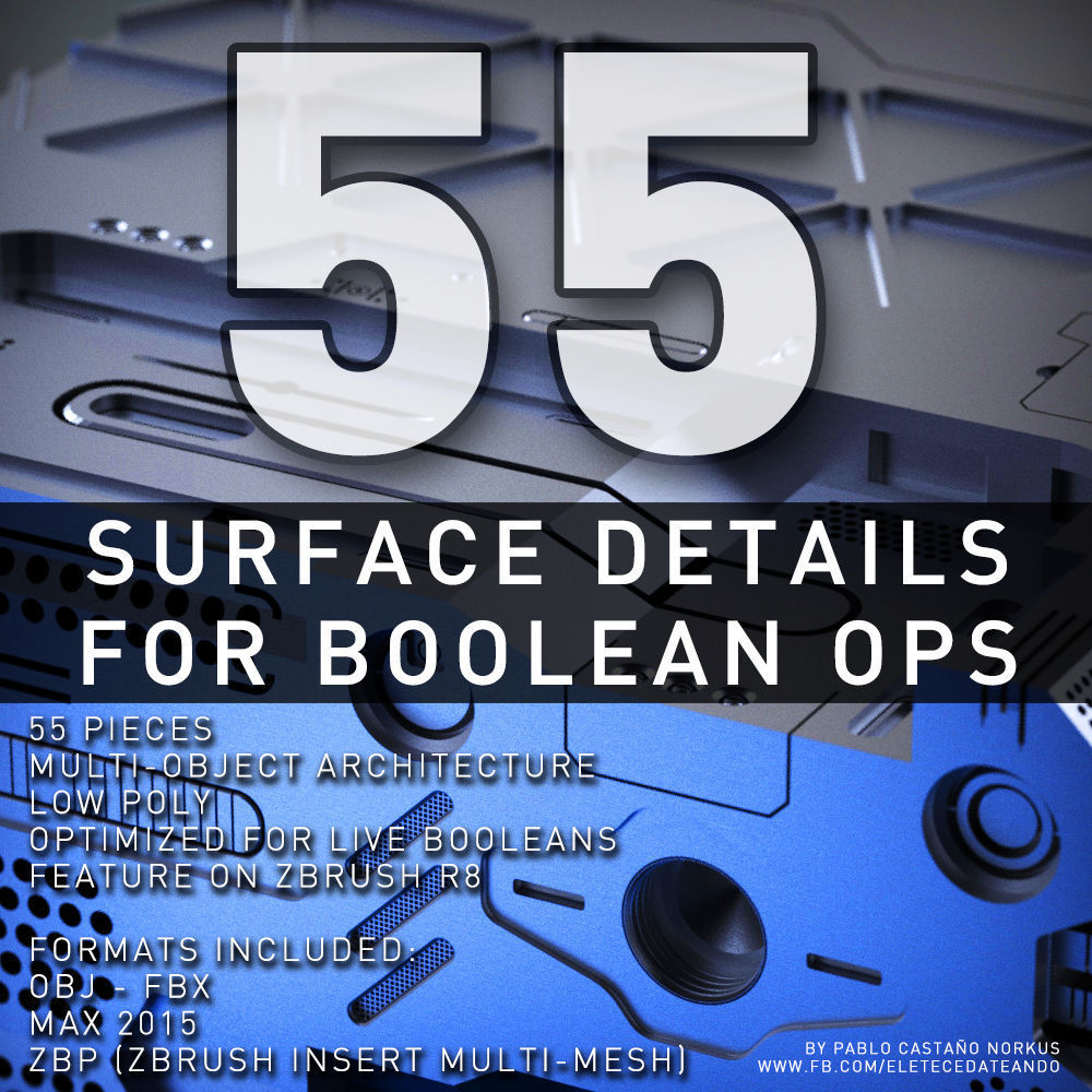 Surface Details For Boolean Operations   3D model