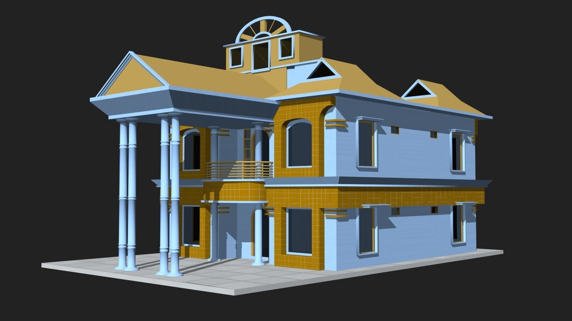 3d model 3d house building vr ar low poly for Build house online 3d free