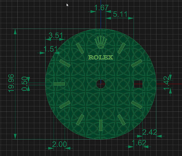 Rolex clock face