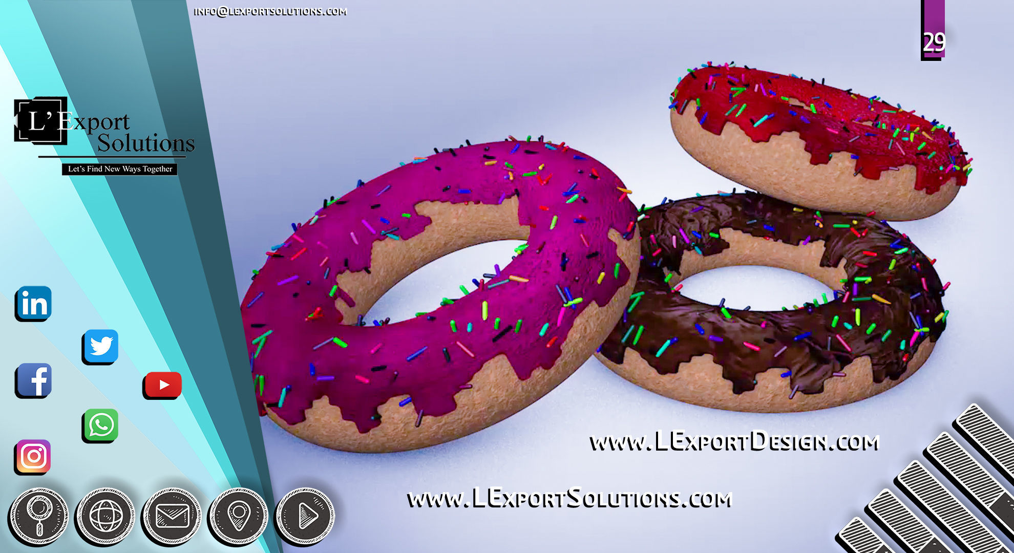 Donuts with Jam - Animation Cinema 4D