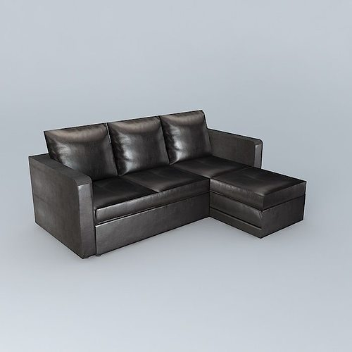 brown sofa bed toronto 3d model max obj mtl 3ds fbx stl dae 1