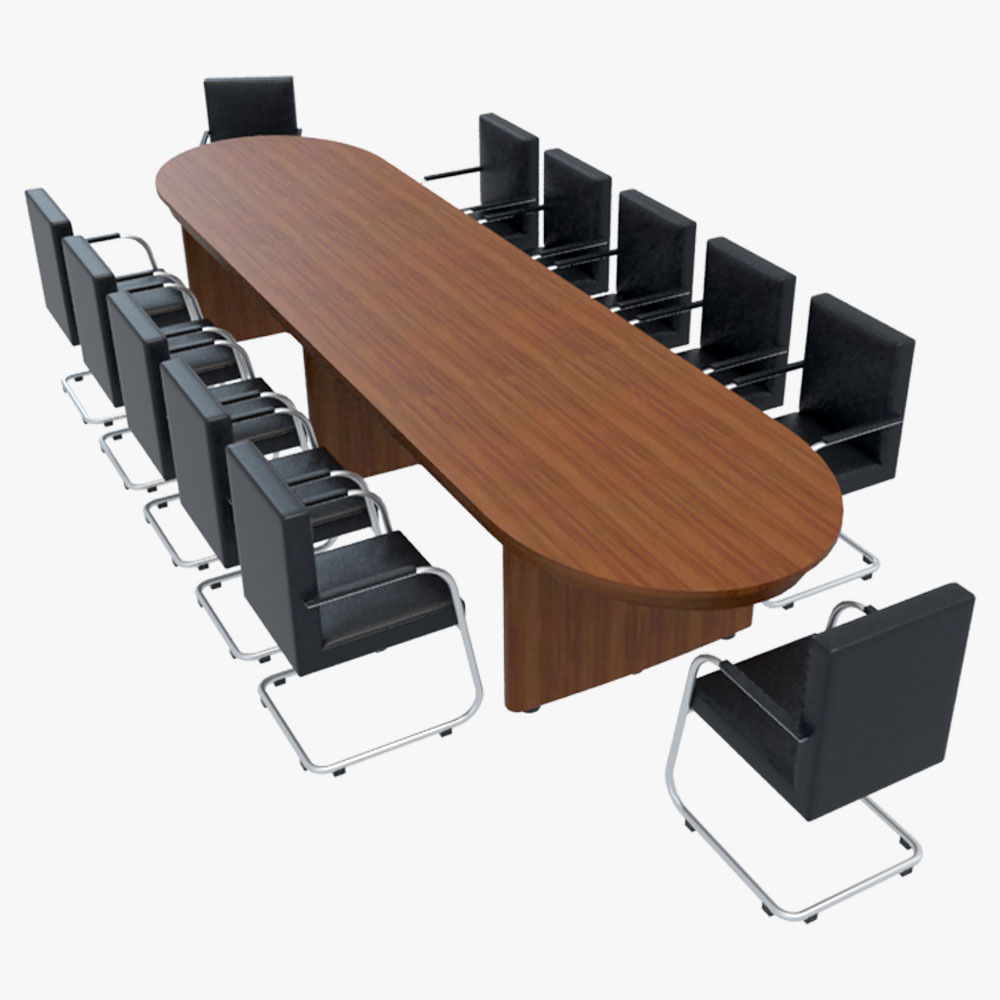 Conference Table with Chairs1 3D CGTrader