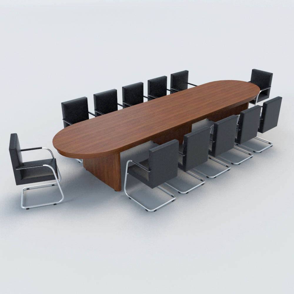 ... conference table with chairs-1 3d model max obj 3ds fbx 3 ... - Conference Table With Chairs-1 3D CGTrader