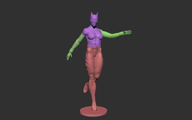 Catwoman Bane batman comics masck stl
