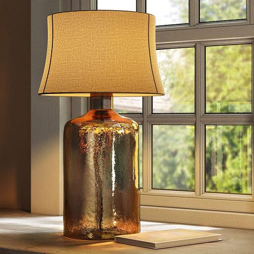 Pottery Barn Clift Glass Table Lamp Base Espresso 3d Model Max Obj