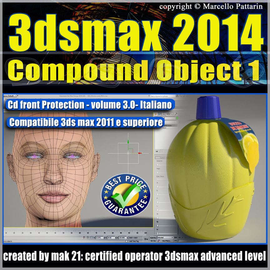 3dsmax 2014 Compound Object 1 vol 3 Italiano cd front